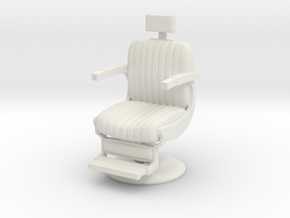 Barber chair 1/43 in White Natural Versatile Plastic