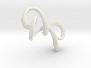 Hourglass in White Natural Versatile Plastic