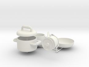1:14 Cooking set for trucks  in White Natural Versatile Plastic