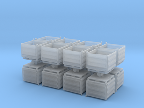 Palletbox Container (x16) 1/220 in Smooth Fine Detail Plastic