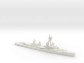 Fletcher-class destroyer (FRAM II), 1/1250 in White Natural Versatile Plastic