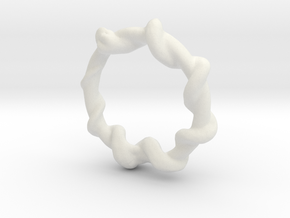 Snake Ring in White Natural Versatile Plastic