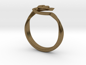 SpiralRing in Natural Bronze
