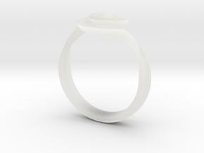 SpiralRing in Smooth Fine Detail Plastic