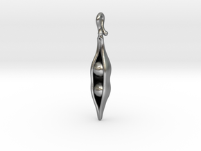Like Two Peas in a Pod - Pendant in Natural Silver