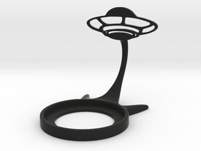 Space UFO in Black Natural Versatile Plastic