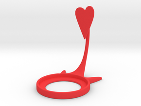Valentine Heart in Red Processed Versatile Plastic