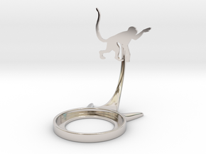 Animal Monkey in Rhodium Plated Brass