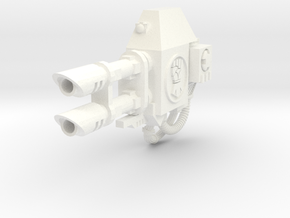 Royal Fists Ares left lascannon #1 in White Processed Versatile Plastic
