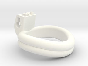 Cherry Keeper Ring - 41mm Double in White Processed Versatile Plastic