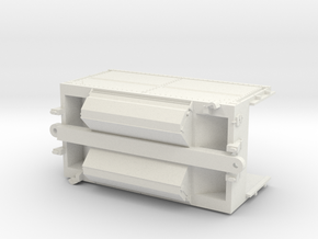 BN Trough Train Intermediate Unit - Brake Wheel in White Natural Versatile Plastic