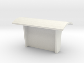 Betonnen abri   N - spoor in White Natural Versatile Plastic