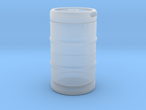 1:25 Classic Beer Keg Gas Tank in Smoothest Fine Detail Plastic