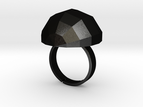 disco ball ring matte  in Matte Black Steel