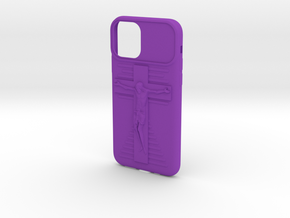 IPhone 11 Pro Jesus on Cross Case in Purple Processed Versatile Plastic