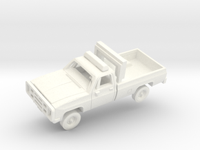 """M1008 CUCV """"Follow-Me"""" Truck in White Processed Versatile Plastic: 1:200"""