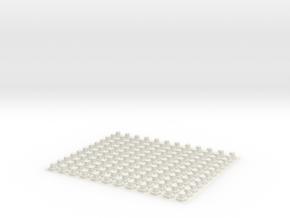 Hex Head Caps for Cap Head Bolts in White Natural Versatile Plastic