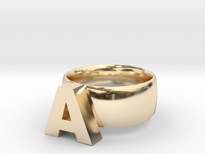 A Ring in 14K Yellow Gold