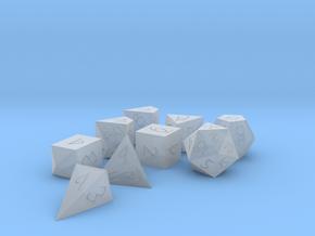 Polyset Horizontal + D4C + D4D - Fantasy Elf Font in Smoothest Fine Detail Plastic