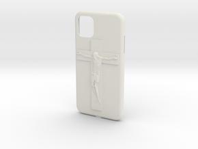 IPhone 11 Jesus Cover in White Natural Versatile Plastic