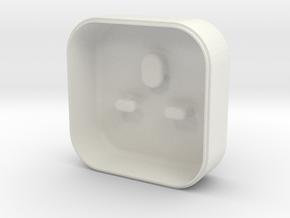 Lightning earphone case - Lid in White Natural Versatile Plastic