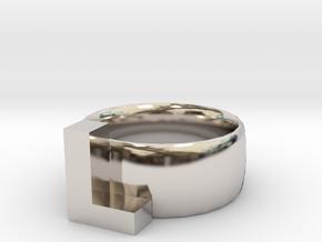 L Ring in Platinum