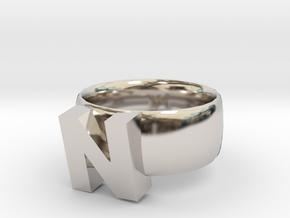 N Ring in Platinum