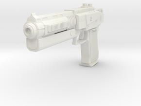 Scifi Pistol 1 in White Natural Versatile Plastic: Small