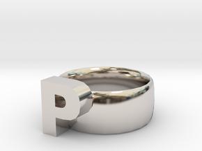 P Ring in Platinum