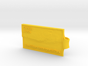 The Ridge Key Fob in Yellow Processed Versatile Plastic