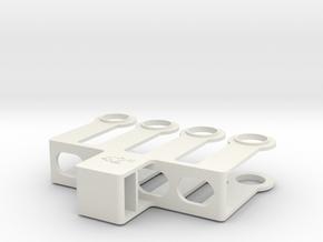 """HO 1/87 Paint mask for 42"""" diameter wheel sets in White Natural Versatile Plastic"""