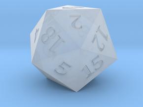 D20 Magic Lantern Symbol Logo in Smoothest Fine Detail Plastic