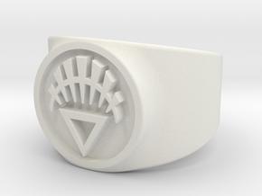 GL - White Lantern (Life) Comic Style in White Premium Versatile Plastic: 10 / 61.5