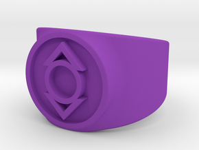 GL - Indigo Lantern (Compassion) Comic Style in Purple Processed Versatile Plastic: 10 / 61.5