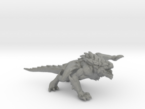 Dark Lizard miniature model fantasy games rpg DnD in Gray PA12