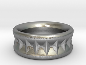 Coronation Band (Wide)  in Natural Silver: 5.5 / 50.25