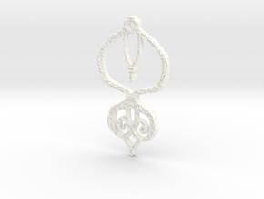 :Baby Lace II: Pendant in White Processed Versatile Plastic