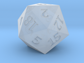 D20 Baffled Cheese Symbol Logo in Smoothest Fine Detail Plastic