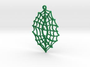 :Vision Web: Pendant in Green Processed Versatile Plastic