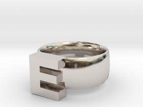 E Ring in Platinum