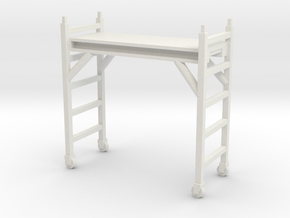 Scaffolding Unit 1/35 in White Natural Versatile Plastic