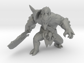Orog Orc Champion miniature model fantasy game DnD in Gray PA12