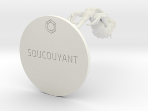 SOUCOUYANT_83mm in White Natural Versatile Plastic