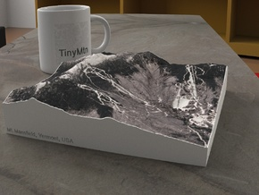 Mt. Mansfield in Winter, Vermont, USA, 1:25000 in Natural Full Color Sandstone