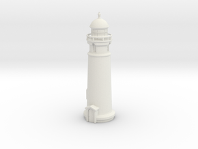 Lighthouse (round) 1/160 in White Natural Versatile Plastic