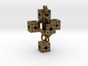 Crucifixum Fractalum Mathematicae - Argentum Unum in Natural Bronze