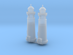 Lighthouse (round) (x2) 1/700 in Smooth Fine Detail Plastic