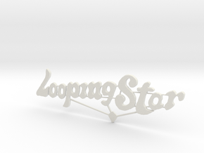 Looping Star Sign  in White Natural Versatile Plastic