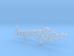 Looping Star Sign  in Smooth Fine Detail Plastic