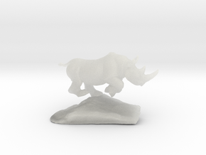 Rhino  in Smooth Fine Detail Plastic